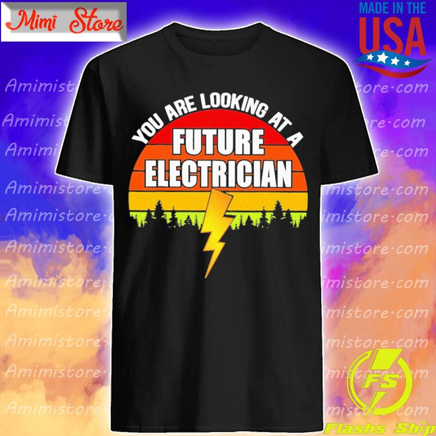 You are looking at a Future Electrician vintage retro shirt
