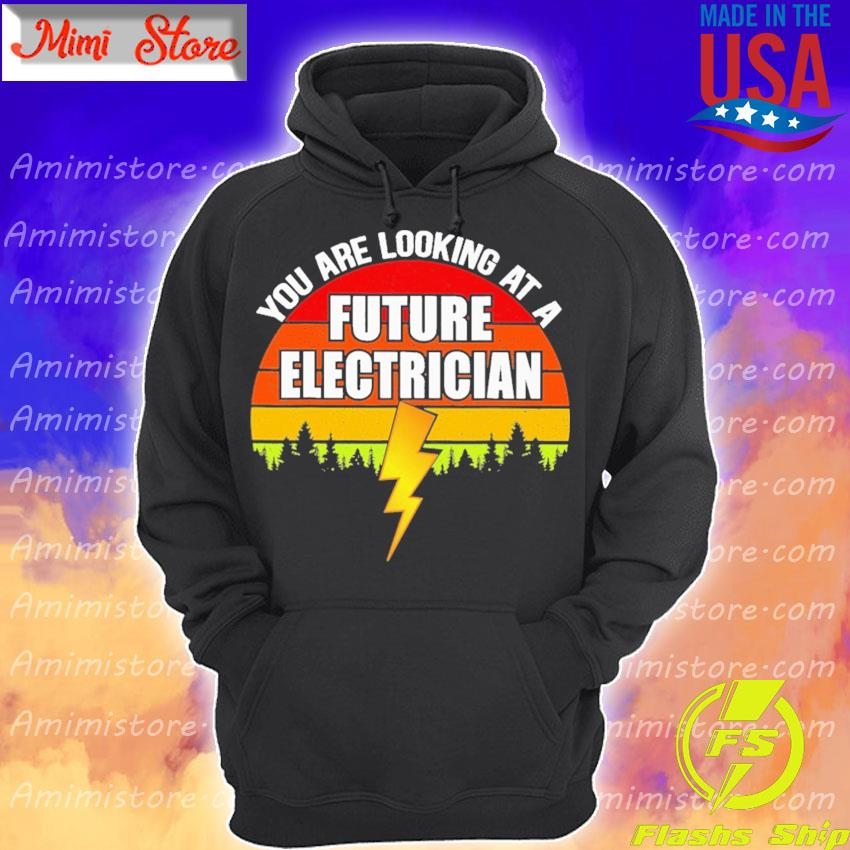 You are looking at a Future Electrician vintage retro Hoodie