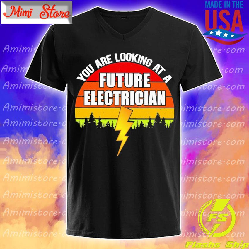 You are looking at a Future Electrician vintage retro V-Neck