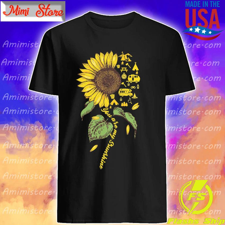 Official Sunflower Camping dandelion You are My Sunshine shirt
