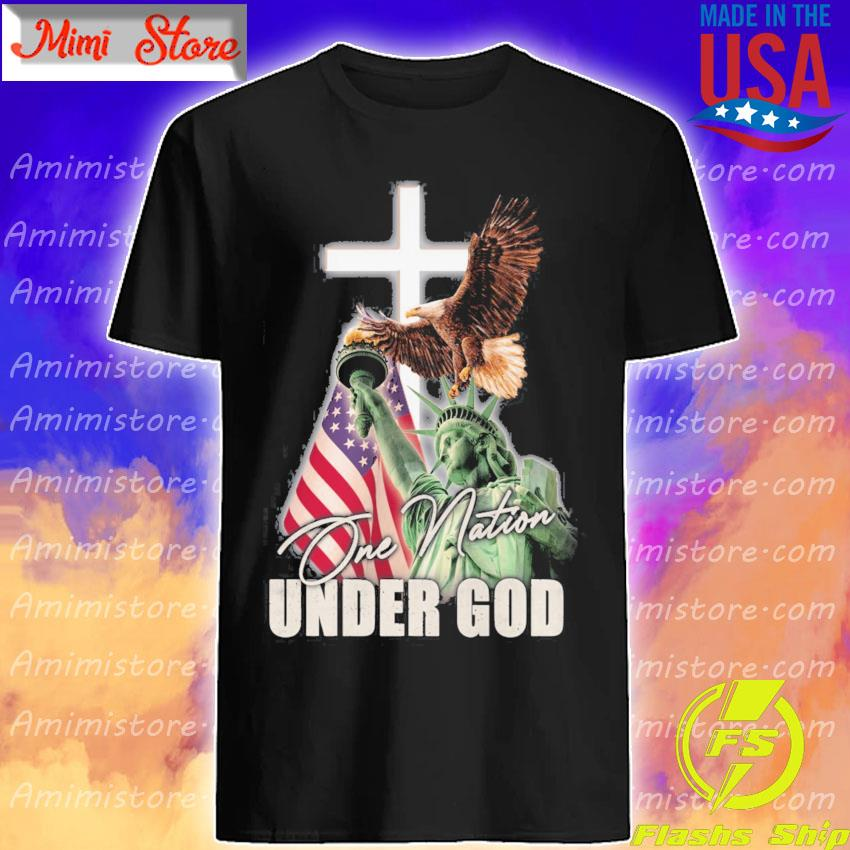 Eagles Liberty American flag One Nation Under god shirt
