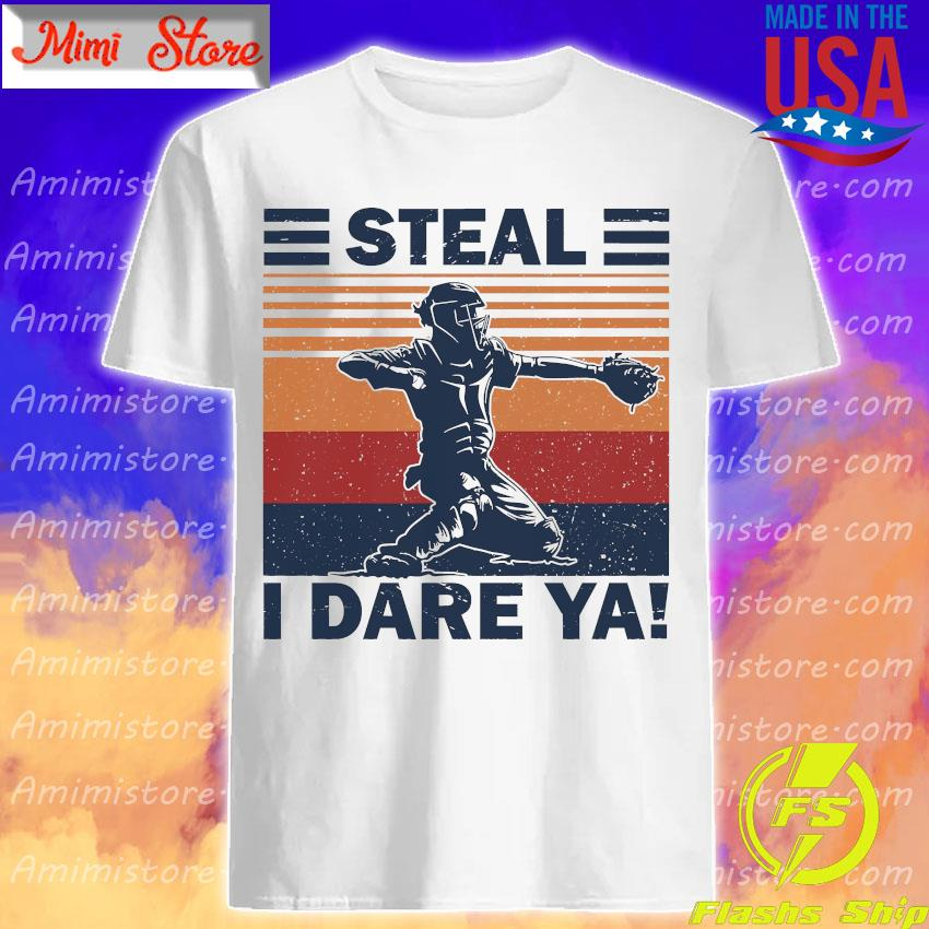 Baseball Steal i dare Ya vintage shirt