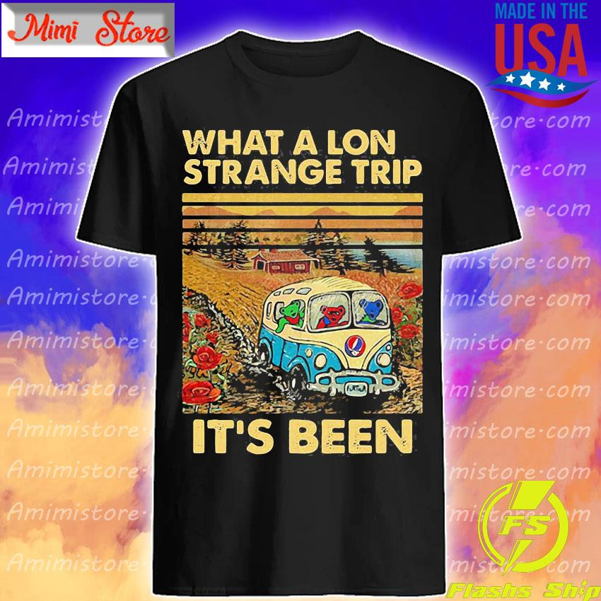 Bear Deadhead driver what a lon strange trip it's been vintage shirt