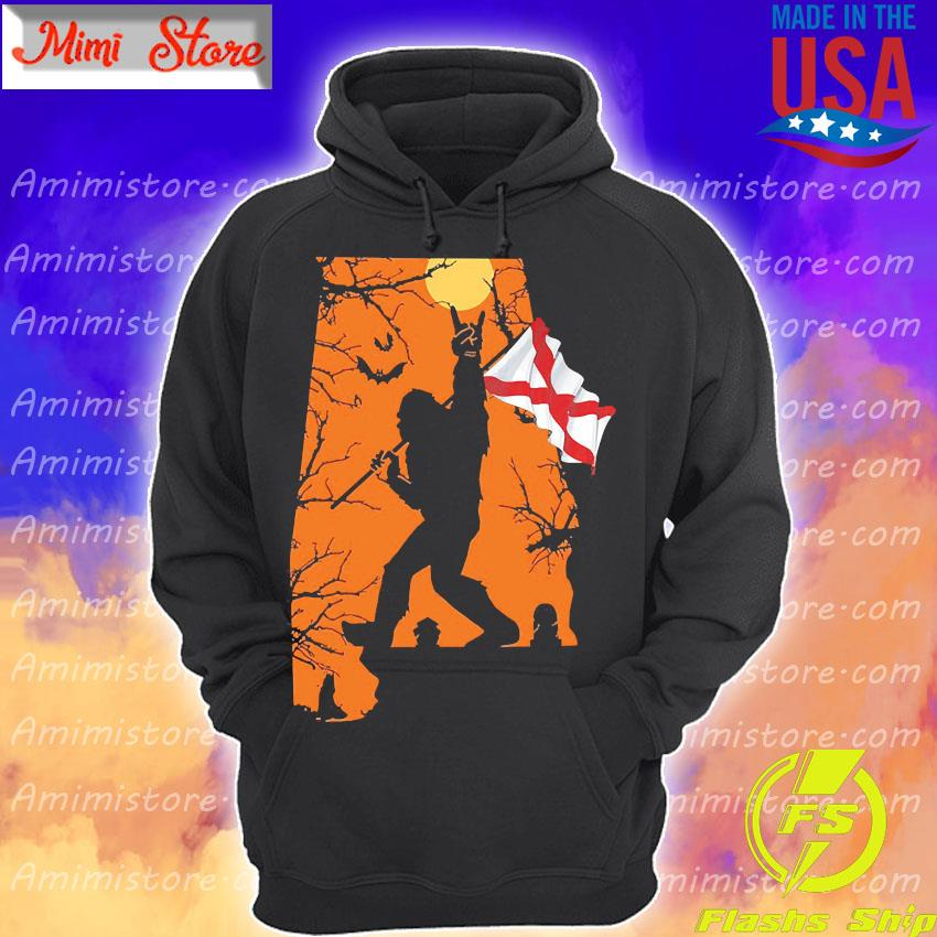 Bigfoot flag Alabama Halloween s Hoodie
