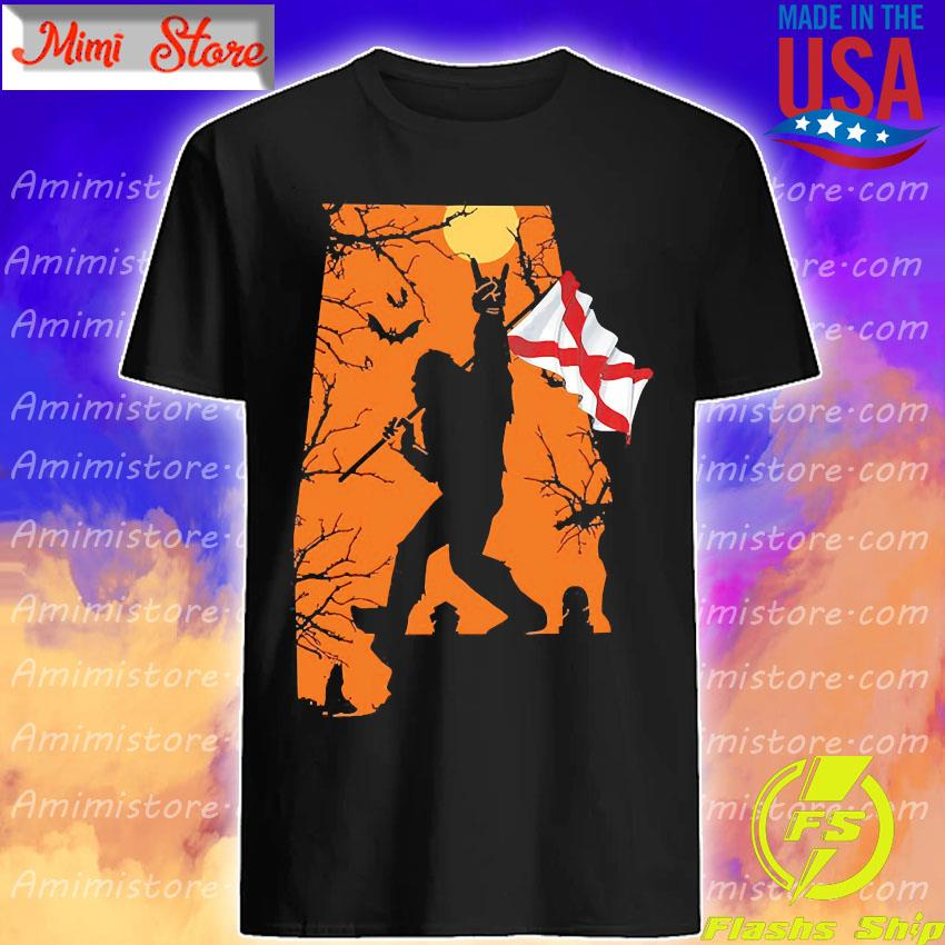 Bigfoot flag Alabama Halloween shirt