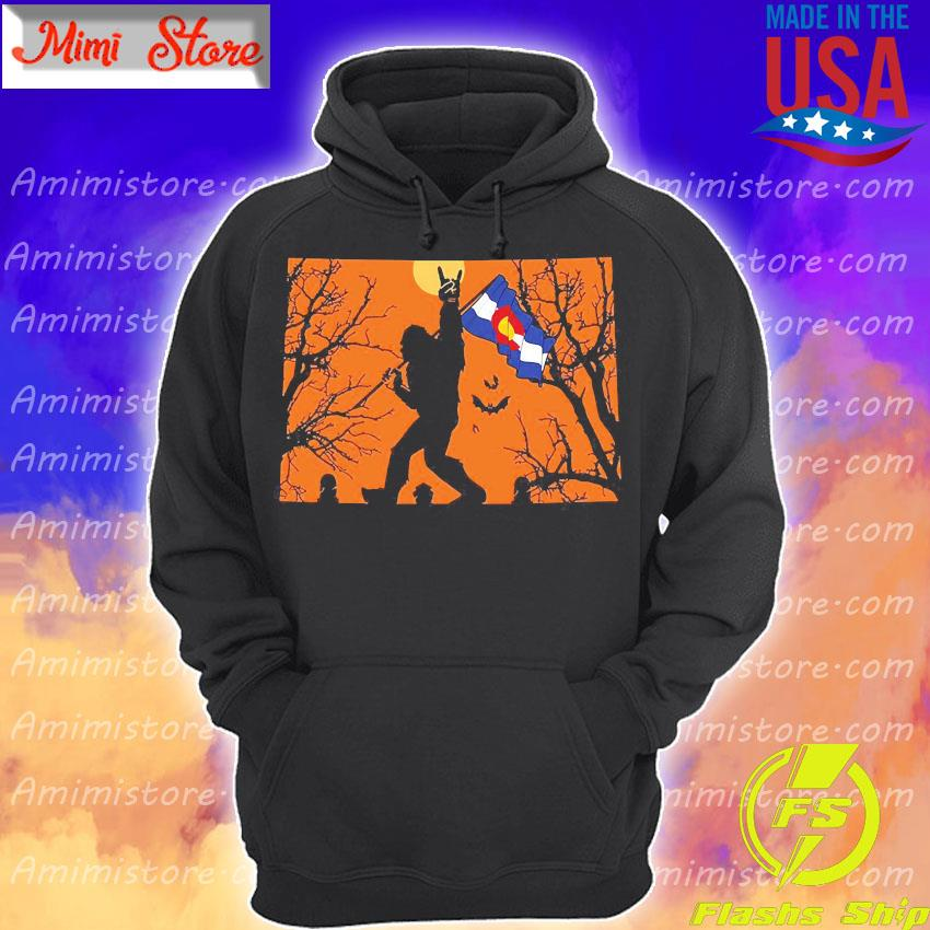 Bigfoot flag Colorado Halloween s Hoodie