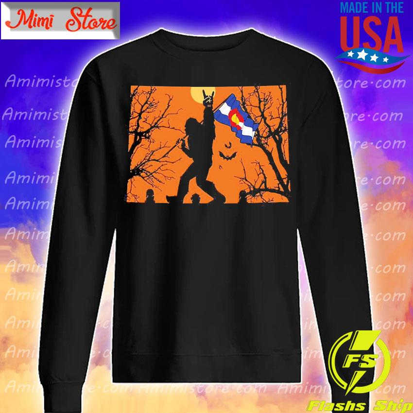 Bigfoot flag Colorado Halloween s Sweatshirt