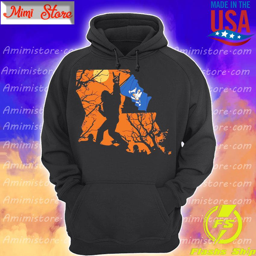 Bigfoot flag Louisiana Halloween s Hoodie
