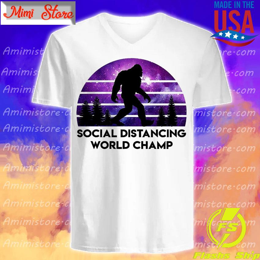 Bigfoot social distancing world champ s V-Neck