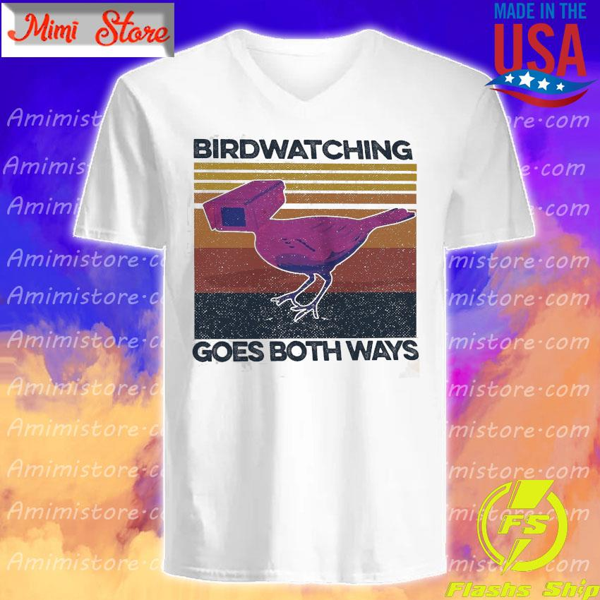 Birdwatching goes both ways vintage s V-Neck