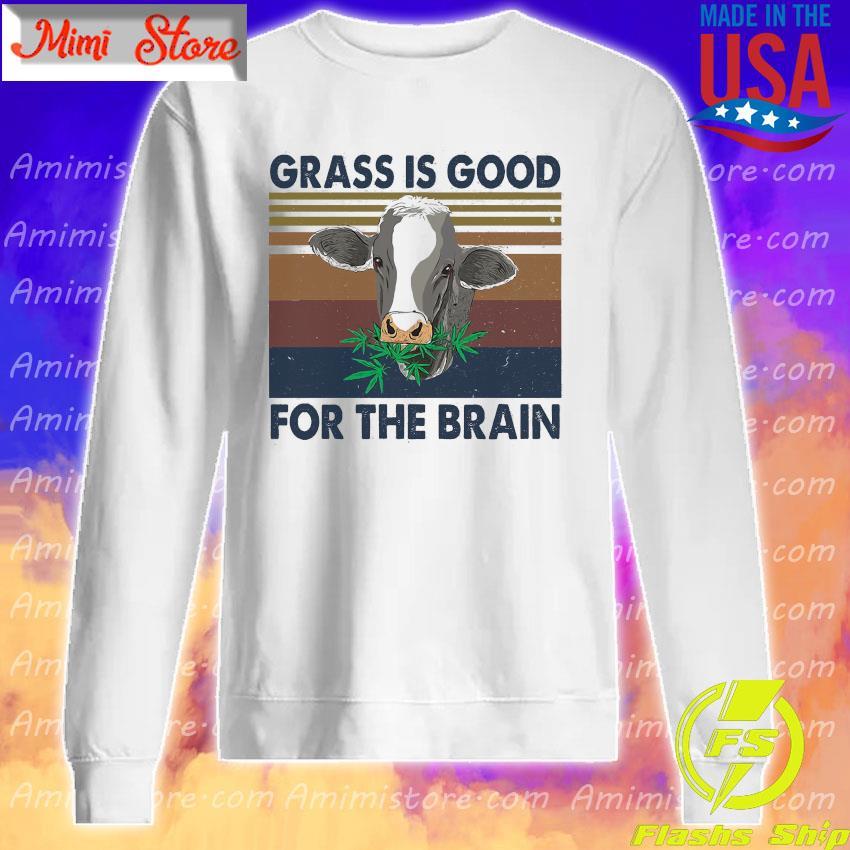 Grass is good for the brain vintage s Sweatshirt