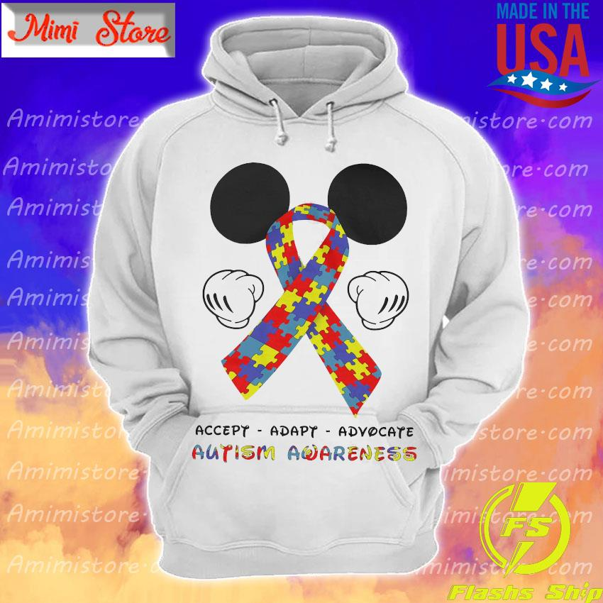 LGBT Mickey Mouse accept adapt advocate autism awareness s Hoodie