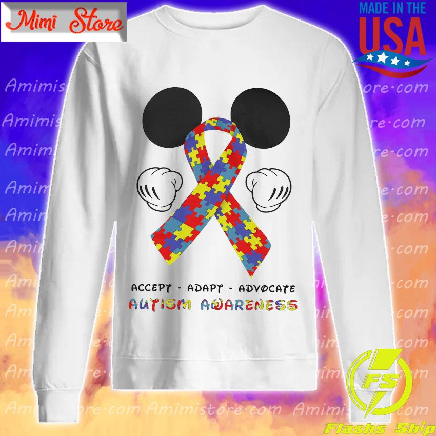 LGBT Mickey Mouse accept adapt advocate autism awareness s Sweatshirt