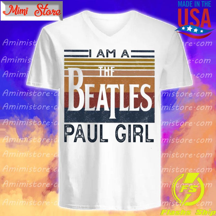 Official I am a The Beatles Paul girl vintage s V-Neck