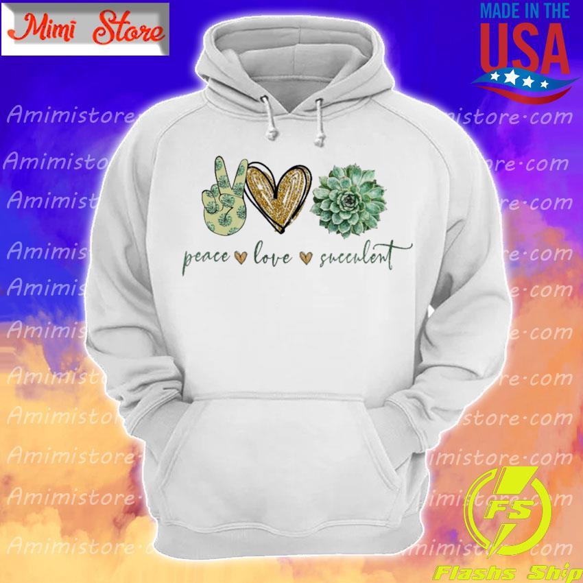 Peace Love Succulent diamond s Hoodie