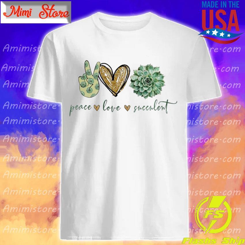 Peace Love Succulent diamond shirt