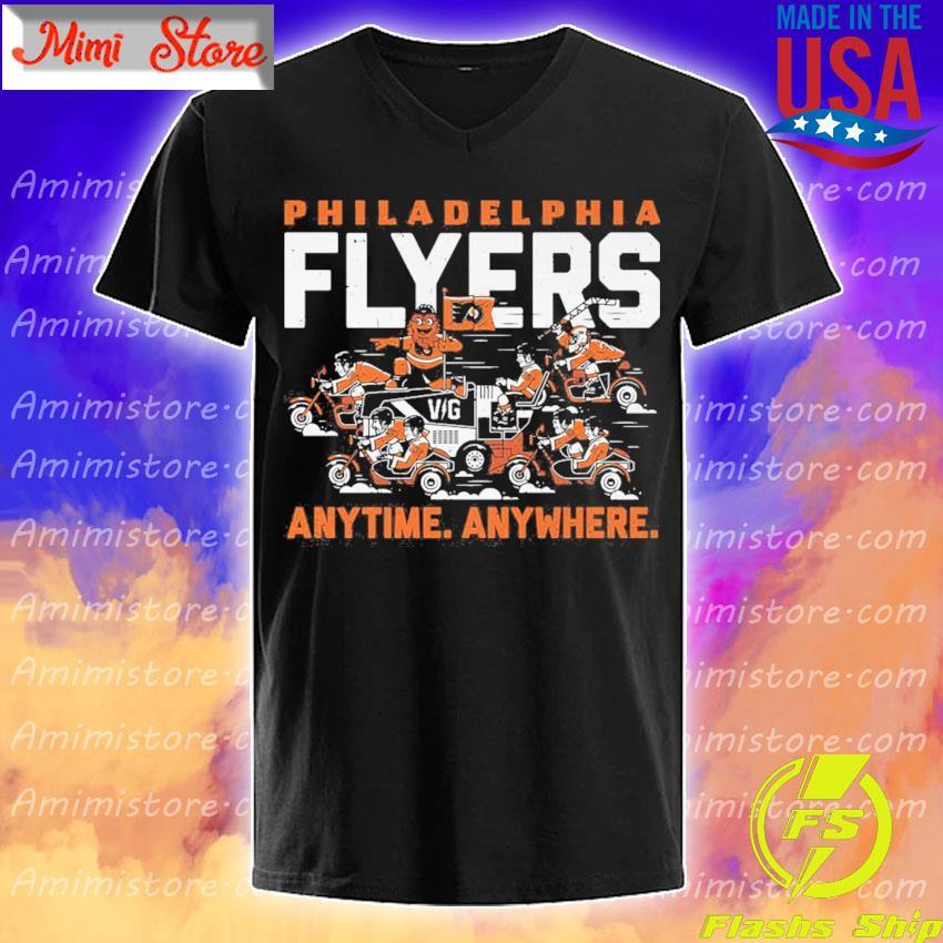 Philadelphia Flyers any time anywhere s V-Neck