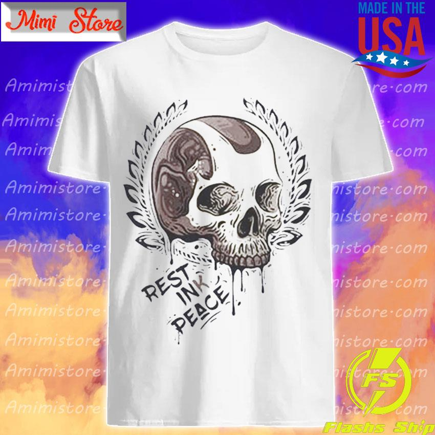 Skull Rest ink Peace shirt