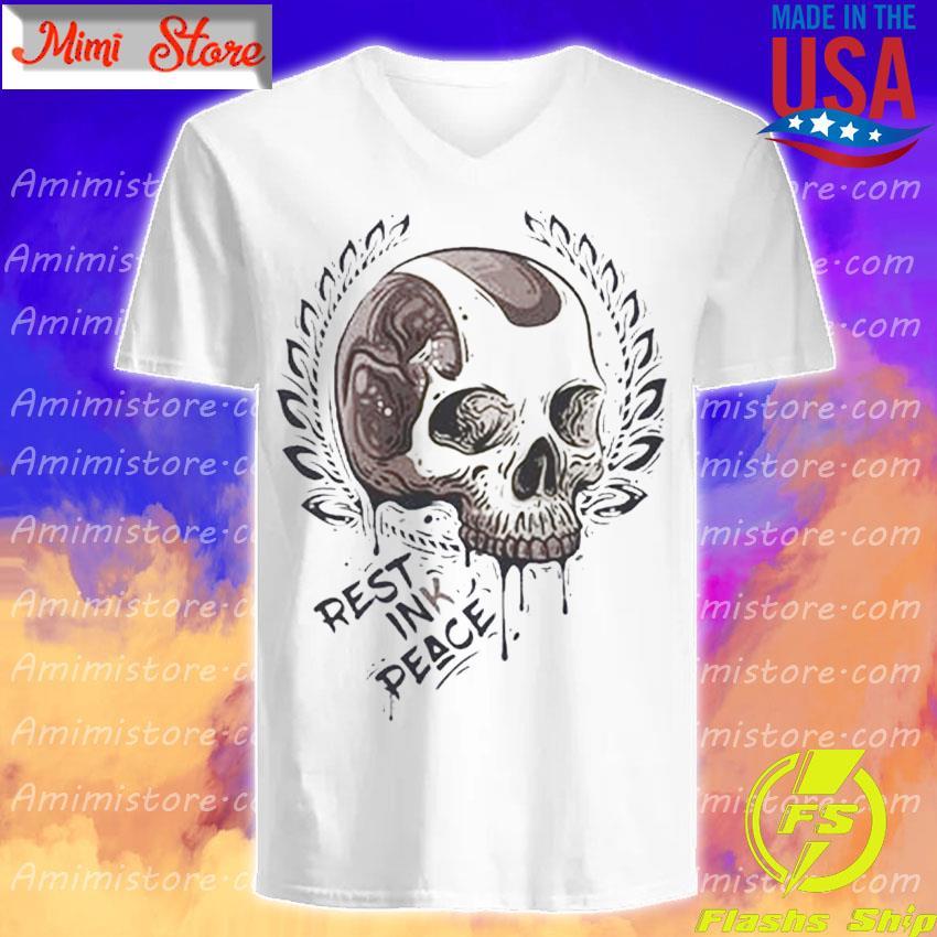 Skull Rest ink Peace s V-Neck