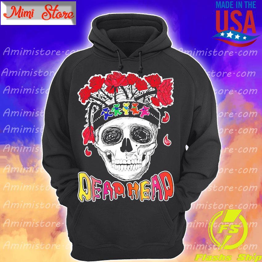 Skull Rose Dead head s Hoodie