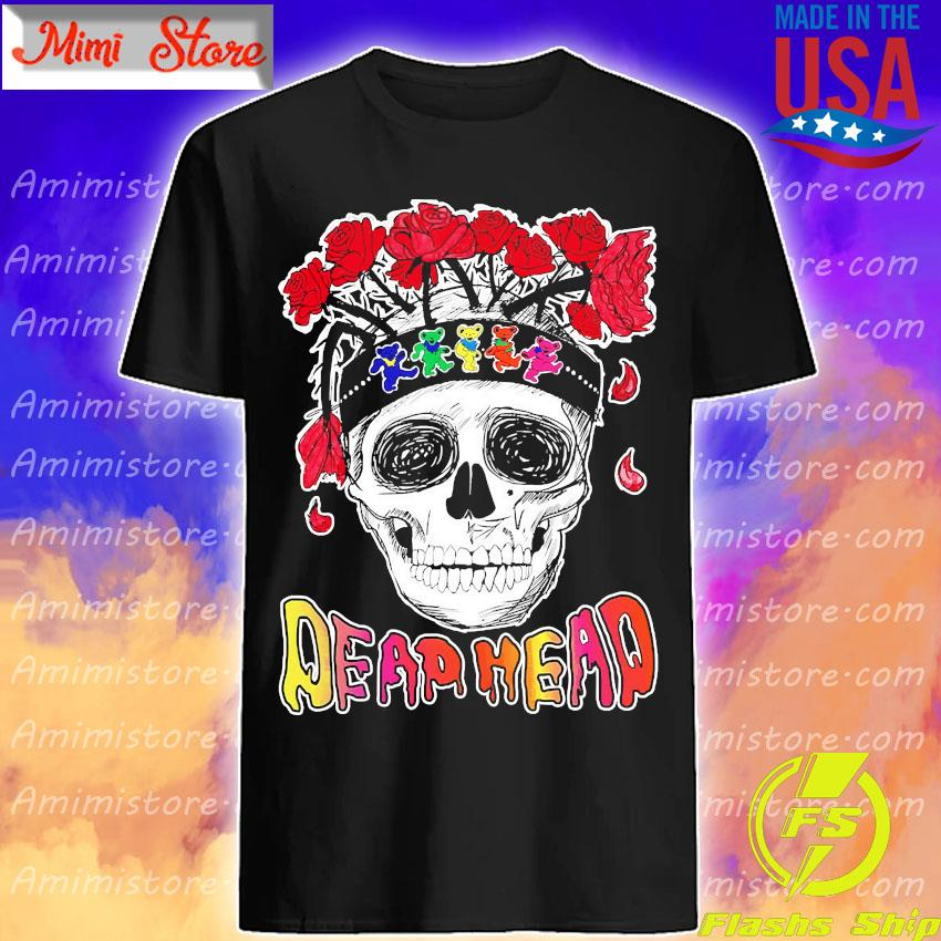 Skull Rose Dead head shirt