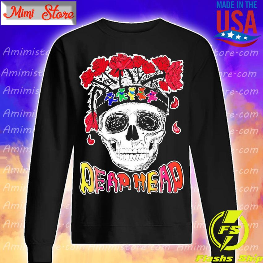 Skull Rose Dead head s Sweatshirt