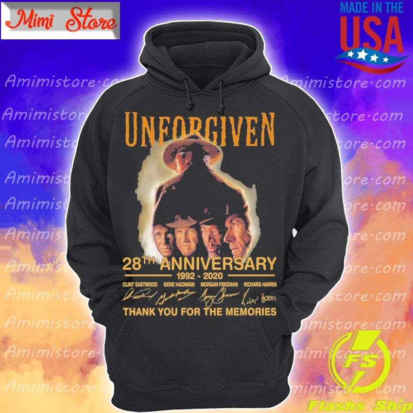 Unforgiven 28th anniversary 1992 2020 thank you for the memories signatures s Hoodie