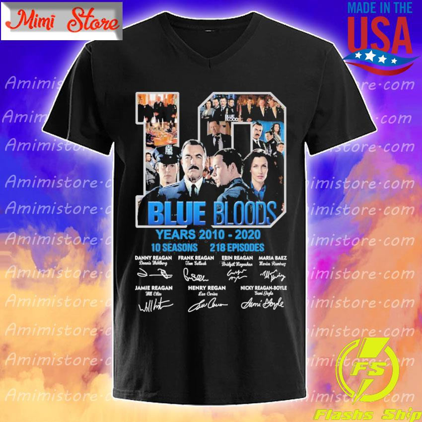 10 Blue Bloods years 2010-2020 10seasons 218 Episodes signatures s V-Neck