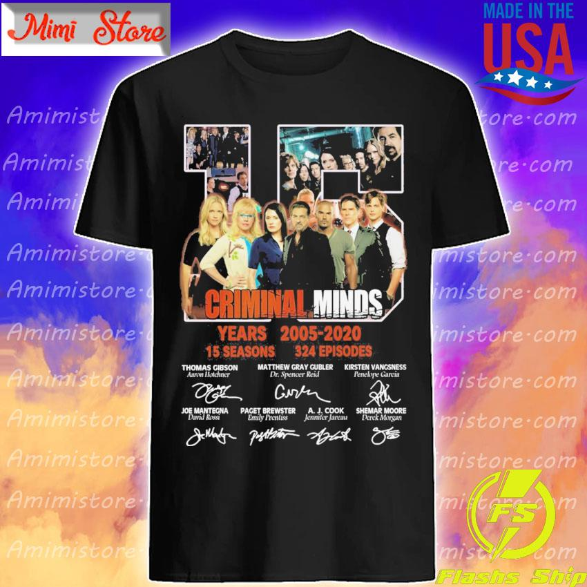 15 Criminal Minds years 2005 2020 15 seasons 324 episodes character signatures shirt