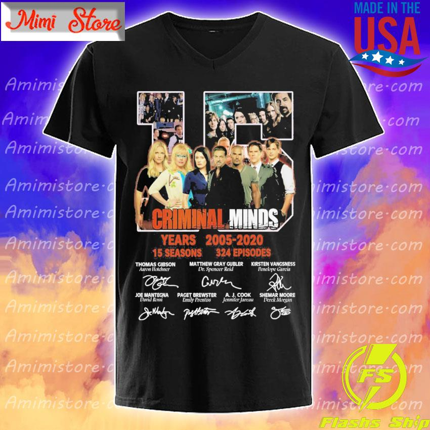 15 Criminal Minds years 2005 2020 15 seasons 324 episodes character signatures s V-Neck