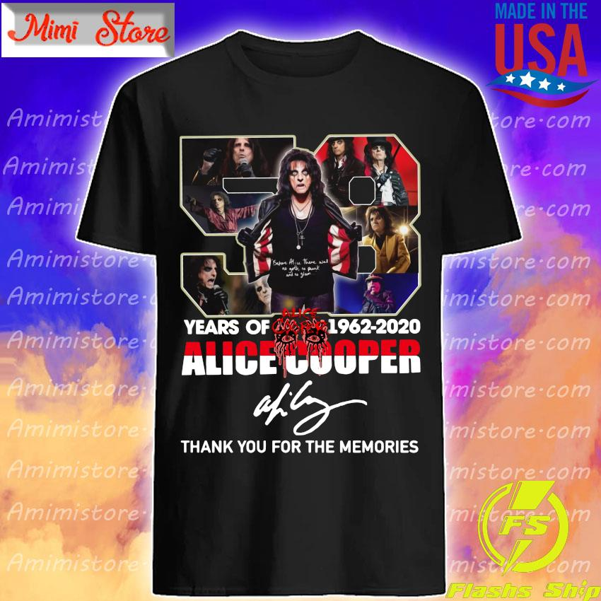 Alice Cooper 58 Years of 1962-2020 thank you for the memories signature shirt
