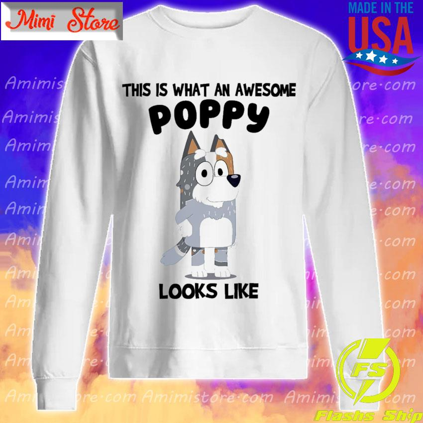 Bluey Bandit This is what an awesome Poppy looks Like s Sweatshirt