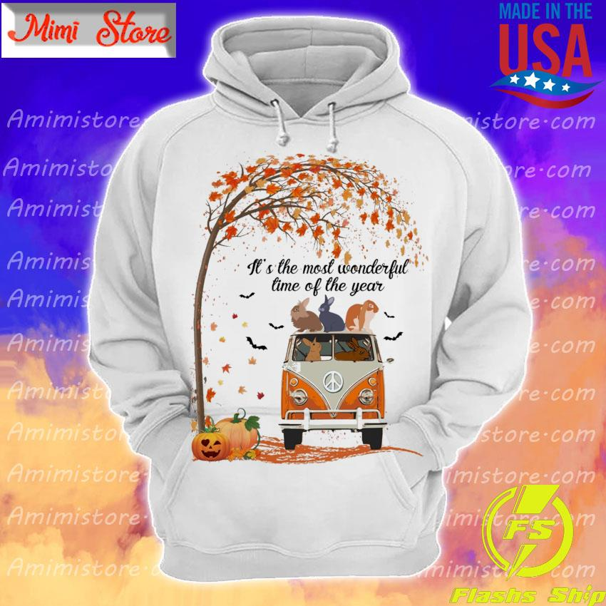 Rabbits hippie It's the most wonderful time of the year Halloween s Hoodie