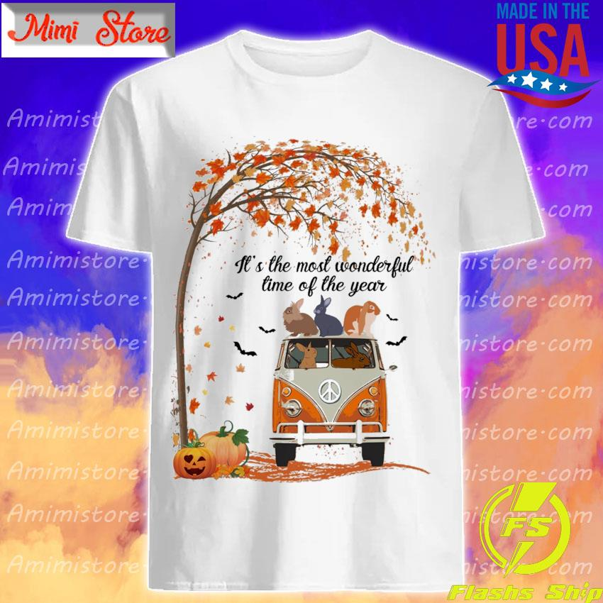 Rabbits hippie It's the most wonderful time of the year Halloween shirt