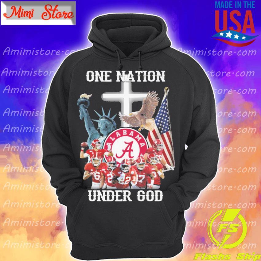 Alabama Crimson Tide one Nation under god s Hoodie