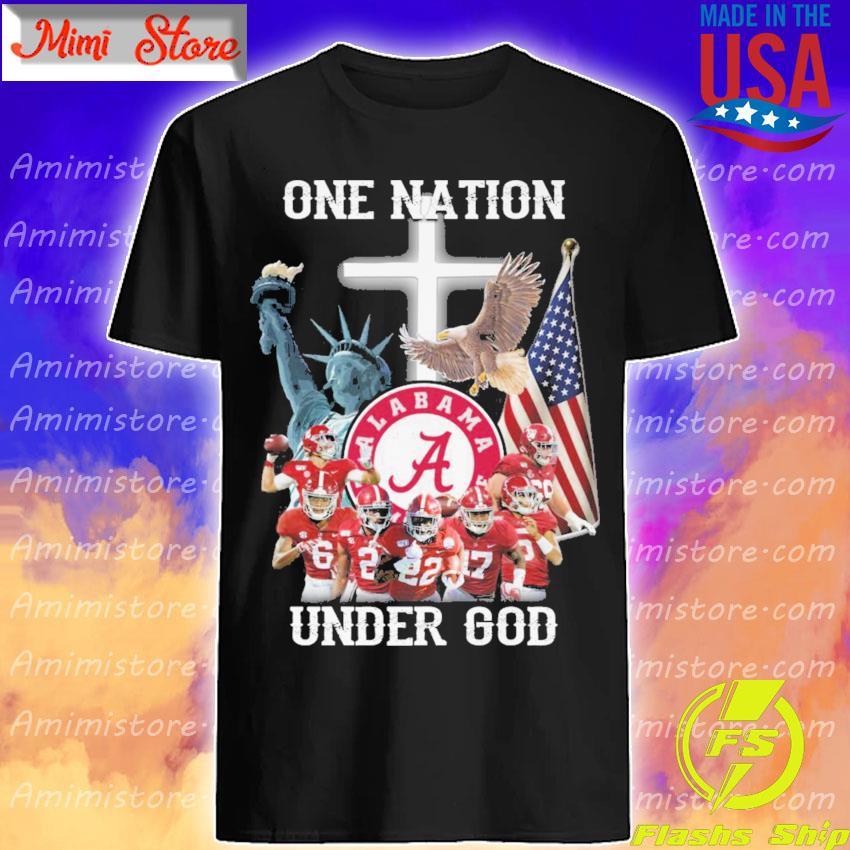 Alabama Crimson Tide one Nation under god shirt