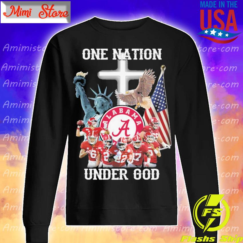 Alabama Crimson Tide one Nation under god s Sweatshirt