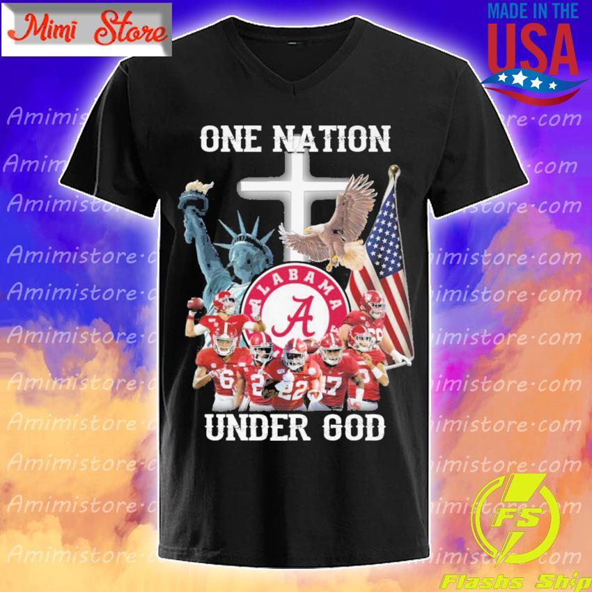 Alabama Crimson Tide one Nation under god s V-Neck