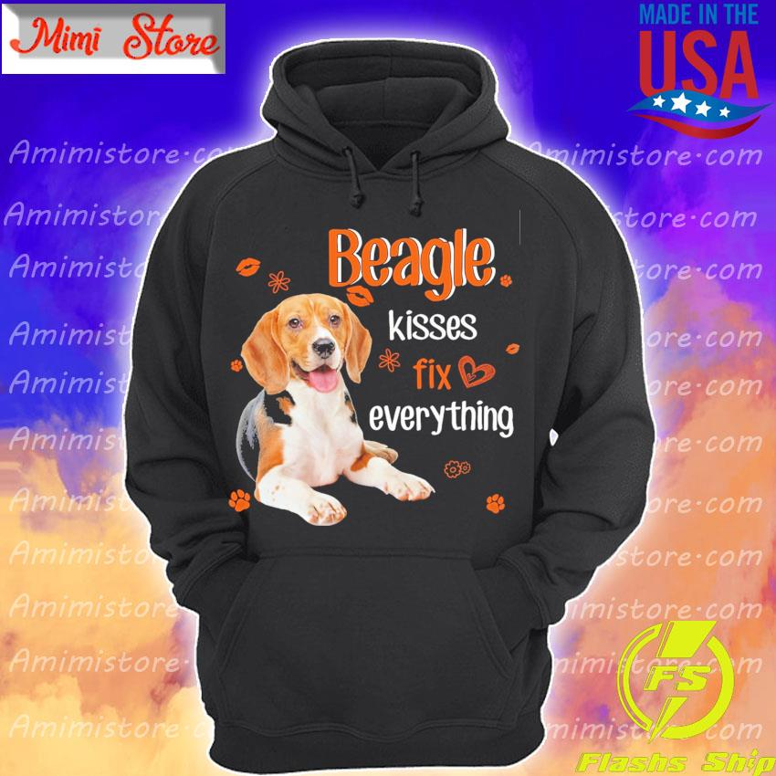 Beagle kisses fix everythings s Hoodie