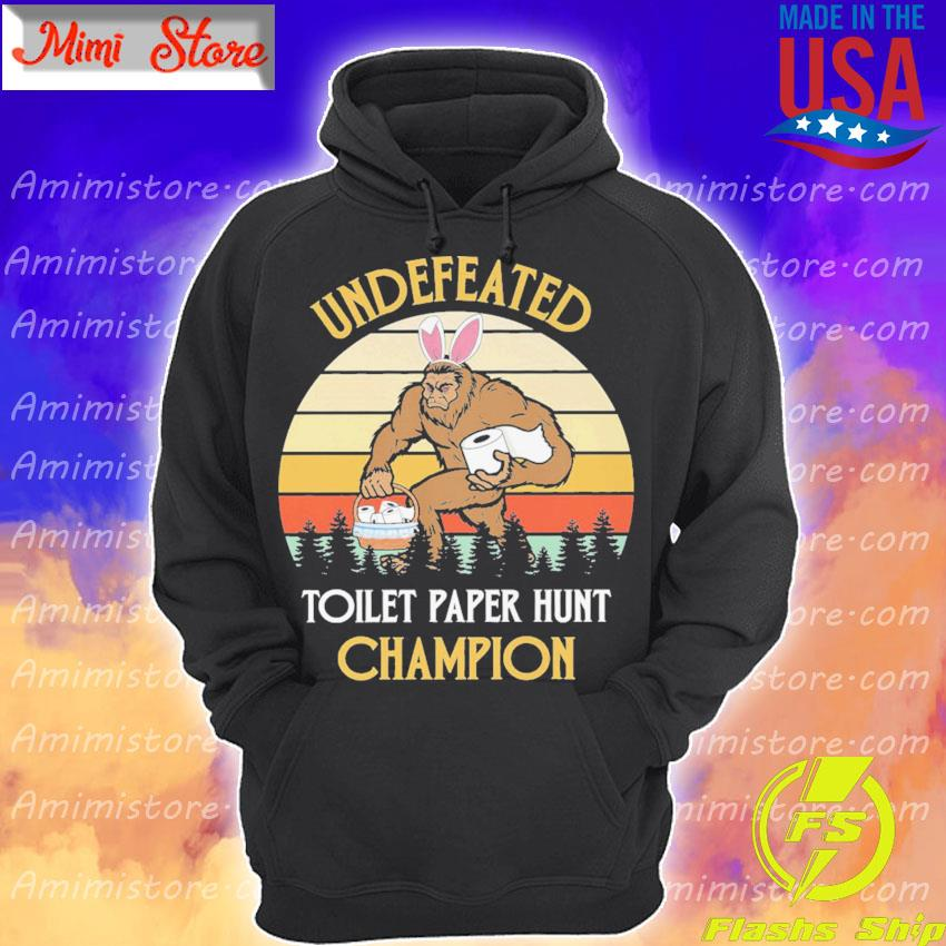 Bigfoot undefeated toilet paper hunt Champion vintage s Hoodie