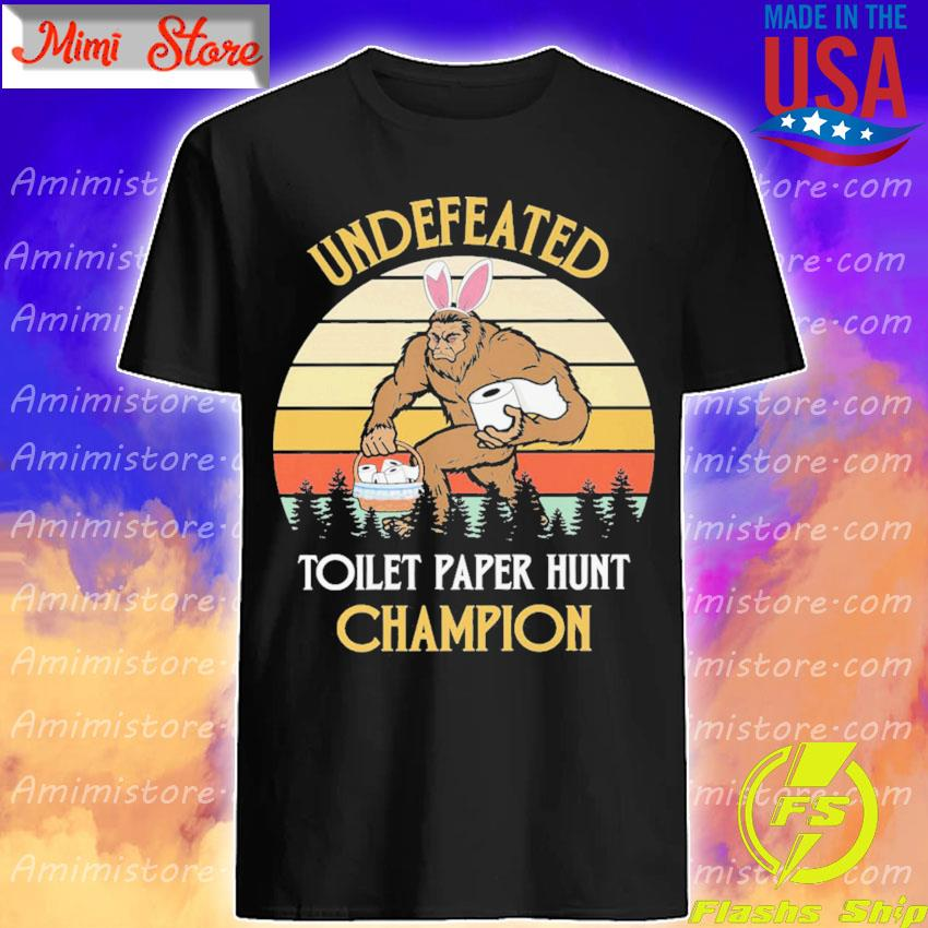Bigfoot undefeated toilet paper hunt Champion vintage shirt