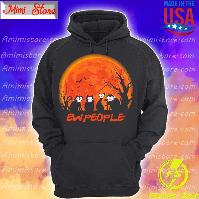 Black Cats face mask ew People happy Halloween s Hoodie
