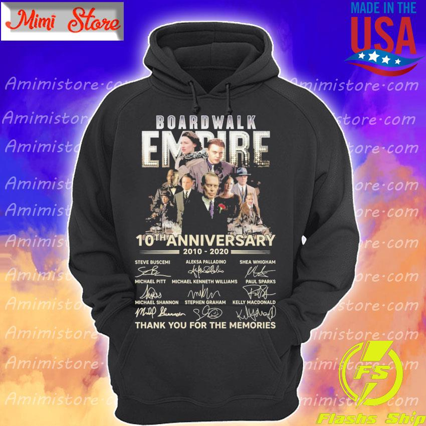 Boardwalk Empire 10th anniversary 2010 2020 thank you for the memories signatures s Hoodie