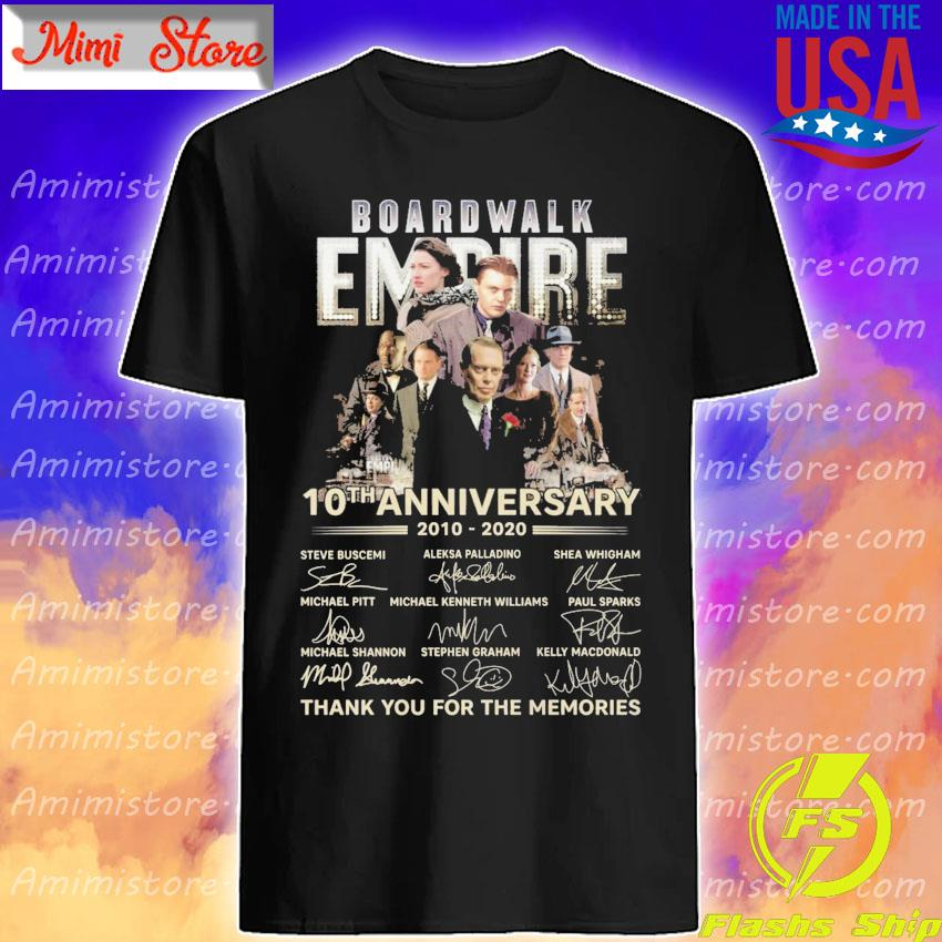 Boardwalk Empire 10th anniversary 2010 2020 thank you for the memories signatures shirt