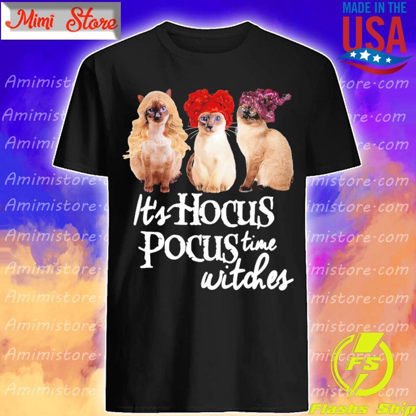 Cats it's Hocus Pocus time Witches shirt