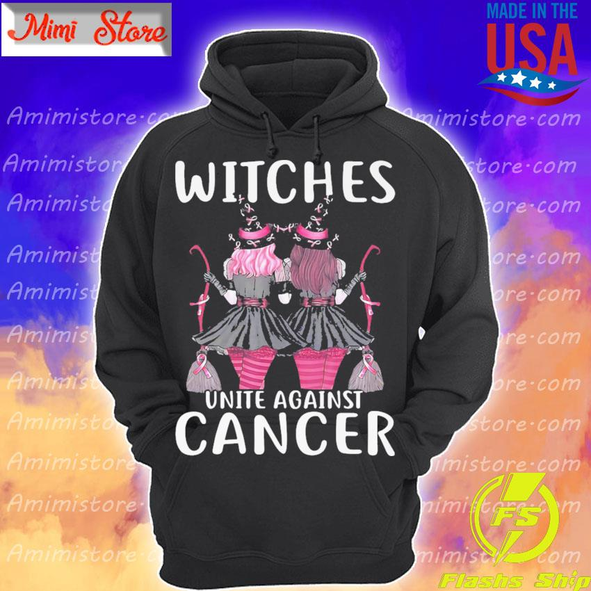 Girls Witches Autism pink unite against cancer s Hoodie