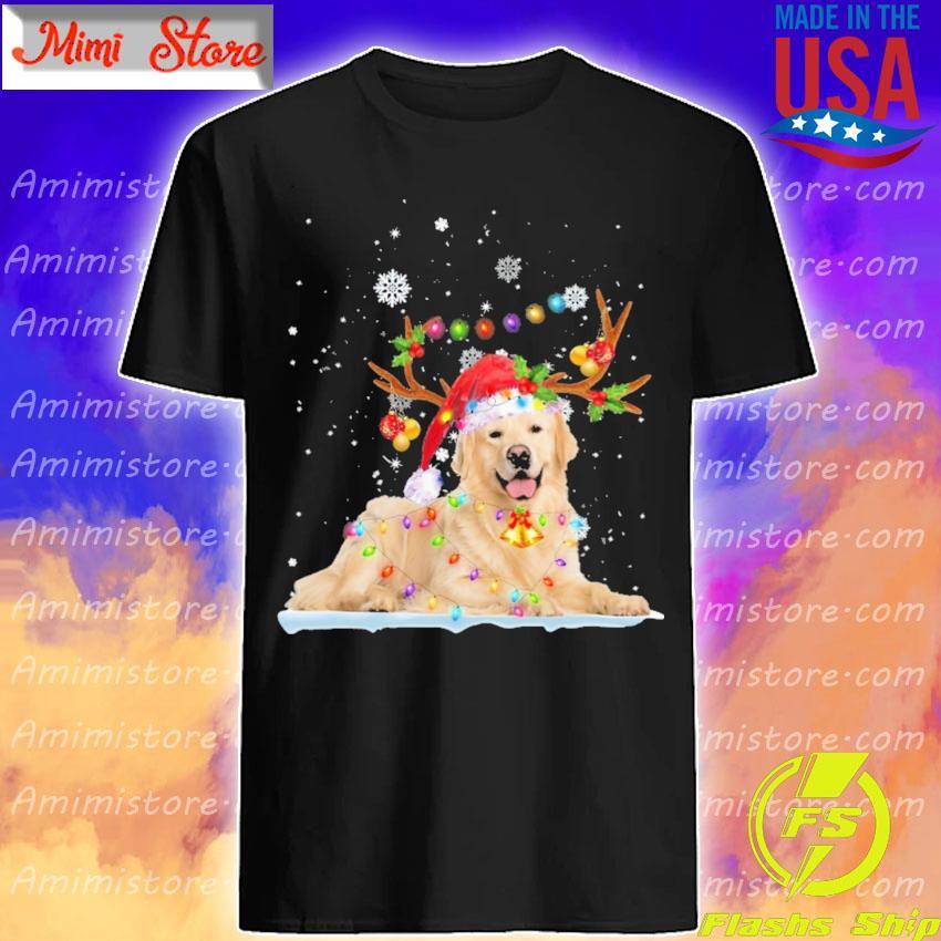 Golden Retriever Merry Christmas shirt
