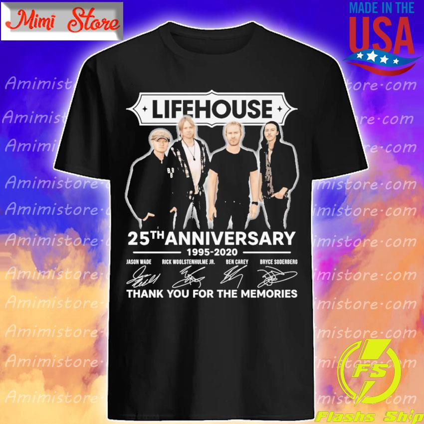 Lifehouse 25th anniversary 1995 2020 thank you for the memories signatures shirt