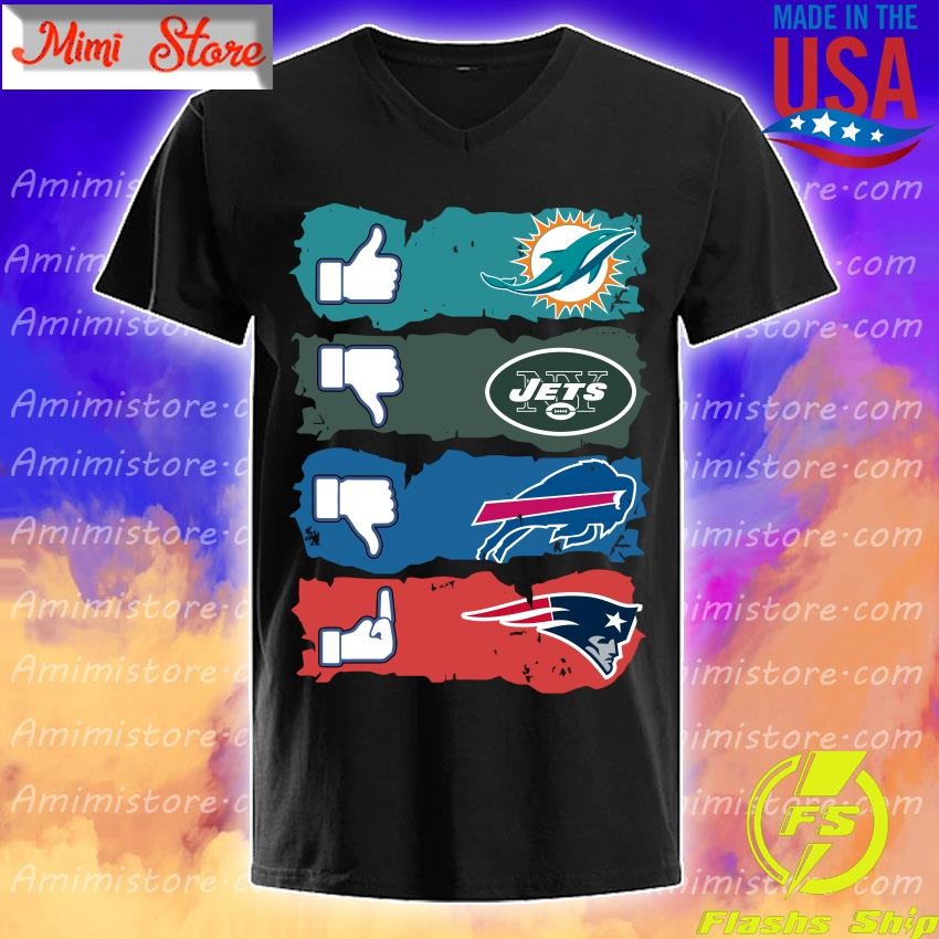 Like Miami Dolphins New York Jets Buffalo Bills New England Patriots s V-Neck