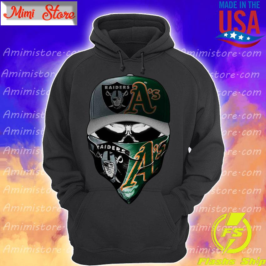 Oakland Raiders and Oakland Athletics skull s Hoodie